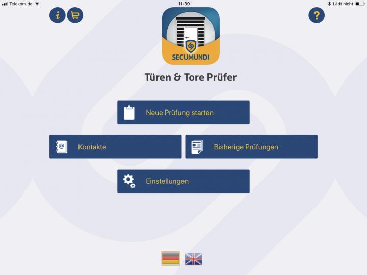 Türe und Tore, Rolltore App zur UVV Prüfung von Türe und Tore mit vorgegebenen Checklisten